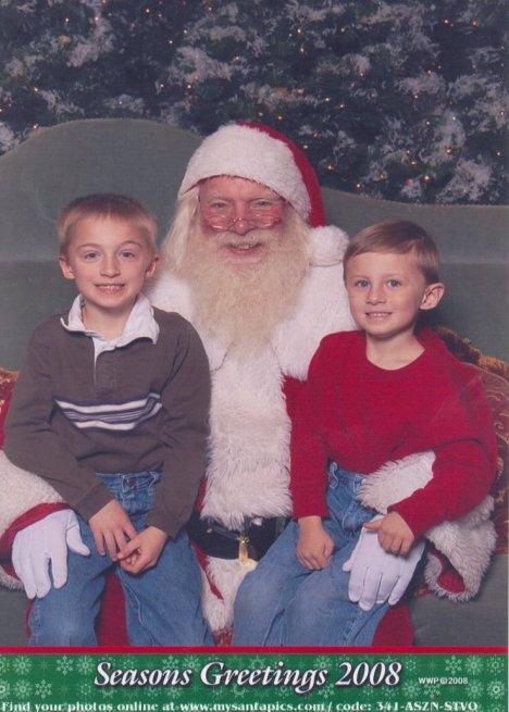 2008 Boys with Santa