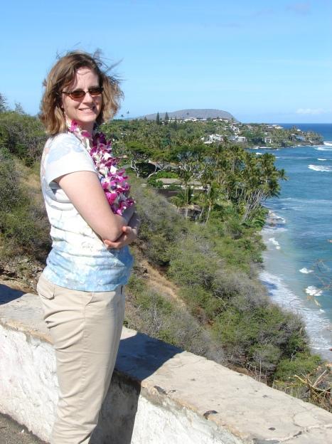 Jen at Waikiki beach overlook