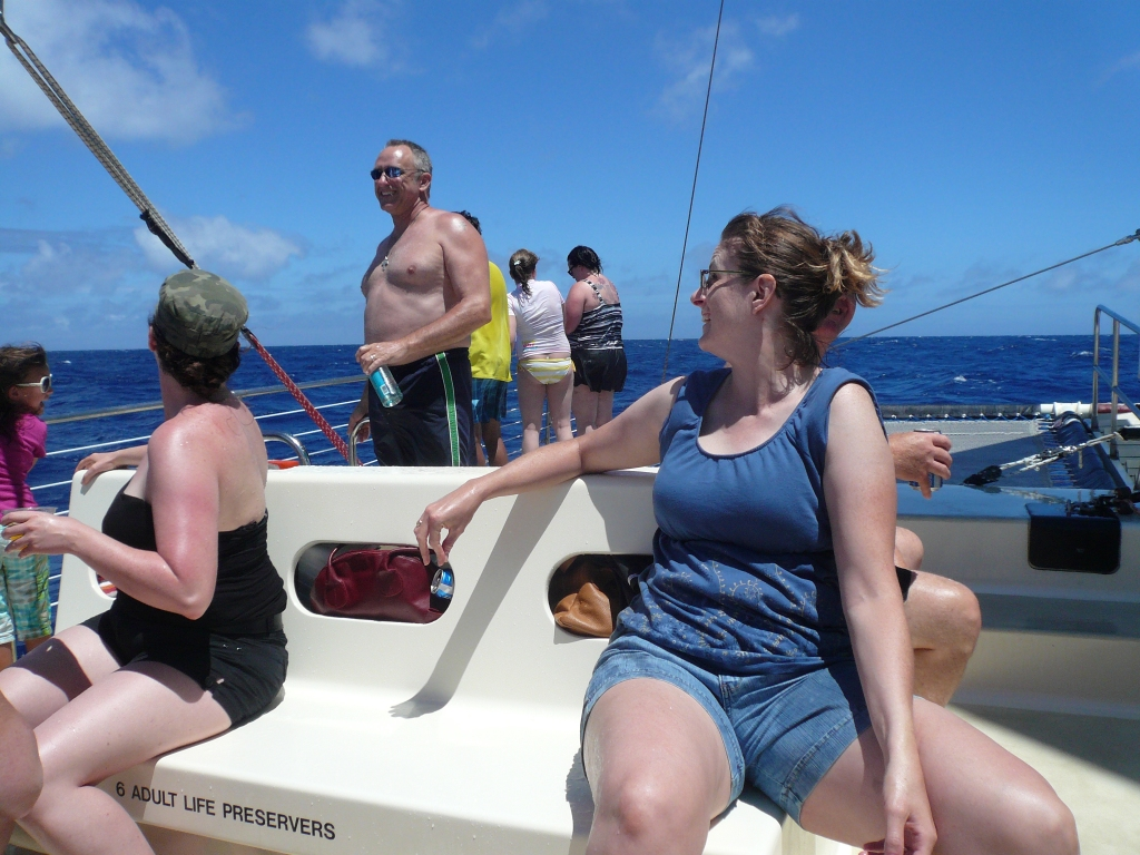 Out on the catamaran